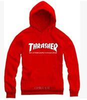 Cheap Wholesale-New 2015 Free Shipping Popular Casual Hoodies Warm Winter Street Skateboard Thrasher Hoodies Sweatshirts Thick Fleece Hoodies