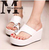 Wholesale MOON WALK summer style gladiator Fashion Wedge Women sandals Ladies shoes high heels Slippers wedge flip flops J3123