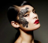 Wholesale New designs face lace Gothic eye Shadow art mask patch foils stickers wraps decorations Lace paper cut makeup tools