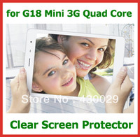 """Cheap 10pcs Customized Clear Screen Protector Guard Film for Teclast G18 Mini 3G Quad Core 7.9"""" Tablet PC No Retail Package"""