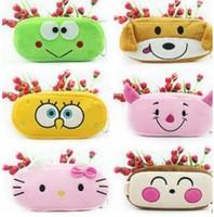 beauty fabric - 30PCS Cartoon MIX Plush Pen Pencil BAG Pouch Case Packs Pendant Cosmetics amp Beauty Pouch Bag Case Coin Purse Wallet BAG