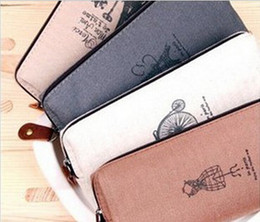 Wholesale korea stationery antique cotton linen bag pencilcase pen bag cosmetic case x cm storage box retail wholesales
