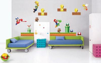Wholesale HUGE Super Mario bros Scene REPOSITIONABLE WALL STICKER