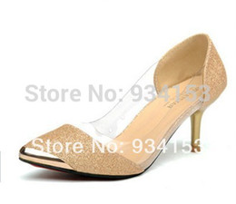 Wholesale 35 size color big name stars fluorescence pointed high heeled shoes transparent fashion footwear clown