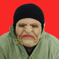 halloween masks clown - New Old woman Latex mask halloween figure dance party mask masquerade masks clown realistic joker silicone female masks