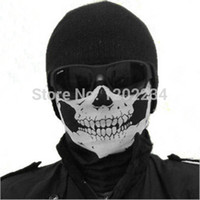 Wholesale NEW Skull Face Mask Scull Scarf Ployester Bandana Motorcycle Snowboards Multifunction headband decoration