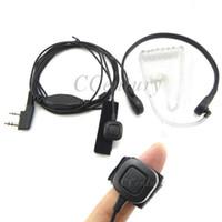 Wholesale 2pcs Throat Mic Microphone Earpiece Headset for Portable CB Radio BAOFENG UV R BF F8 GT UV B5 TK3107 Wouxun KG UVD1P KG UV8D