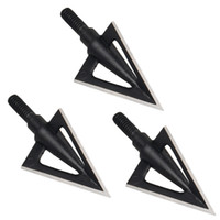 archery - Black Cool Blade Broadheads Grain Archery Arrow Heads Hunting Points