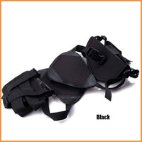 Wholesale Black Tactical Army Horizontal Ambidextrous Pistol Shoulder Holster w Double Mag Pouch