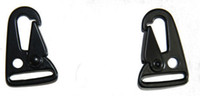 attachment style - x HK style quot sling clips Spring Snap Hook Strap Rifle Gun Attachment Black metal buckle