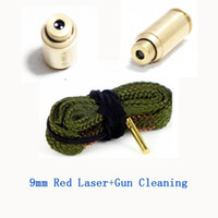 Wholesale mm Red Laser Dot Boresighter Bore Sight amp Snake pistol Gun Cleaning Brass For cleaning Caliber Cartridge Boresight Hunting