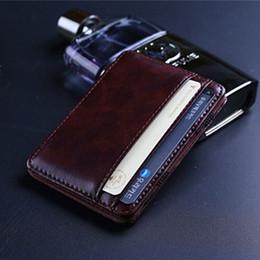 Wholesale Fashion Retro style Mens Magic MONEY CLIPS Men s Leather wallets Multifunctional Credit Card Case Cash Holder Pocket Mini Wallet