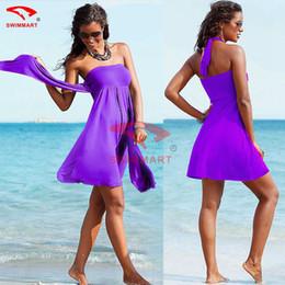 Wholesale New beach dress Europe and America style elegant wrap chest swimwear bikini beach cover up women swim suit cover ups skirts