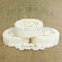 bath soap holders - High Quality Natural Loofah Luffa Loofa Pad Spa Bath Facial Soap Holder Dropshipping