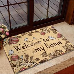 Wholesale 2015 hot cartoon flannel mats door mats bedroom bath mat Bedside mat three sizes