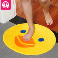 area rug children - 50 cm bath mat for children Plush lovely big yellow duck kids area rugs