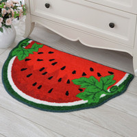 Wholesale 50 cm bathroom bath mat Semicircle cartoon Watermelon area rug for the bathroom