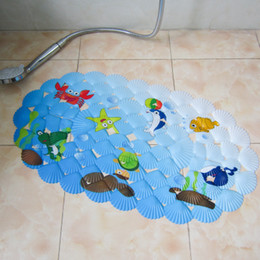 2017 Kids Bath Rug 38*69cm Childrenu0027s Mini Bath Mats PVC With Suction Cups  Cartoon