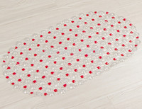 beads bath - 37 cm bathroom mat plain colored beads safe antimicrobial PVC non slip bath mats environmental massage shower mat