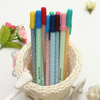 Wholesale box mm Candy Water Color Watercolor Colorful Kawaii Cute Lovely Shining Ballpoint Gel Pen Kit Stationery Set Gift Toys