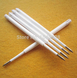 Wholesale-100 Pcs Top Quality Ballpoint Pike Pen Refills 0.7mm black Ink M Point Hot selling Parker 424 blue black refill Free Shipping