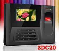 Cheap Fingerprint Time Clock Color Display Brand new Fingerprint Time Attendance ZDC20 3pcs lots
