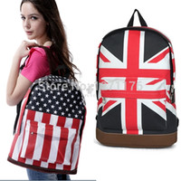 backpack uk sale - Hot Sale New Fashion Casual Unisex Canvas Teenager School Bag Campus Backpack Bags UK US Flag