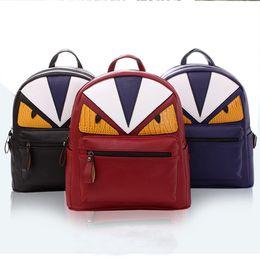 Wholesale new pu leather woman backpack cool bird student school backpacks boys girls bookbag kids bags travel daypack bolsa mochila