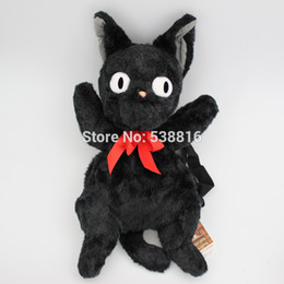 Wholesale cm The Big one Japanese Anime Kiki s Delivery Service Black Cat Jiji Plush Toy Doll Bag Backpack Gift High