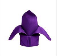 Wholesale linen napkins x purple Wedding Napkins custom wedding napkins