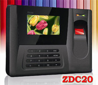 Wholesale Brand new Fingerprint Time Clock Color Display ZDC20 Fingerprint Time Attendance