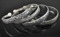 Wholesale New Fashion Vintage Style Tibetan Silver Metal Carving Cuff Bracelets Bangles For Women Dress Designs Choice
