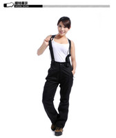 bamboo brand boots - New arrival US famous brand layers outdoor sport ski pants women winter black fashion pants snowboard suspenders pants