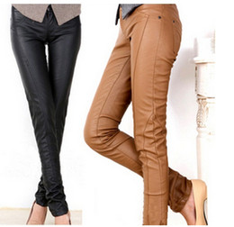 Discount Leather Pants Women Brown Skinny | 2017 Leather Pants ...