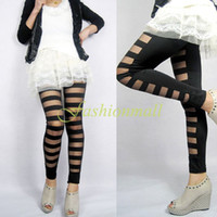 bamboo boots - NEW Arrival Fashion Women s Sexy Slim trousers Stripe Stretch Legging Black Long Pants