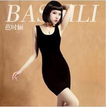 Wholesale-free shipping 2015 new cute girl All-match hip pack sexy sleeveless black slim hip long top Mini dress XS S M dresses vestidos
