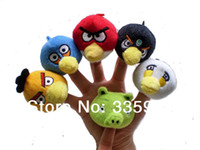 Cheap Wholesale-6 pcs lot, Baby Plush Toy  Finger Puppets Tell Story Props(6 Birds Animals )Birds Animals Doll  Kids Toys  Children Gift