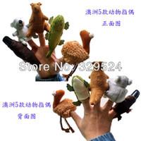 Wholesale ON SALE Australian Animals Finger Puppets Koala Platypus Kangaroo Emu Crocodile Animal Finger Toys for Kids