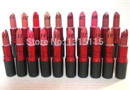 Wholesale MC high quality makeup brand temperament lady gaga unique signature red lipstick tube g