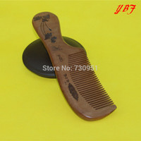 Wholesale Flower Pattern THICKENING Old Peach wooden combs bridal highborn birthday gifts salon barbers hair styling hairdressing products