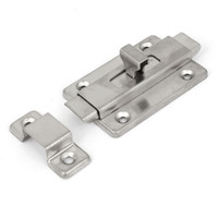 automatic door safety - Bathroom Toilet Door Stainless Steel Automatic Gate Safety Bolt Latch Lock