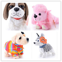 Wholesale Sound Control Electronic Toys Acoustic Dog Voice Child Robotic Robot Toys Touch Dog Plush Husky Gift For Kids Toys For Children