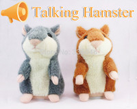 Wholesale Lovely Funny Cute Popular Talking Hamster Plush Toy High performing Hot Speak Sound Record Hamster Educational Toys for children