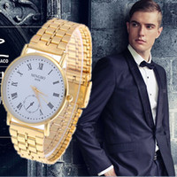 Wholesale Fashion Trendy Relojes gold Hour Marks Quality Steel Quartz Wrist Watch for Men full steel wristwatches Men Watches Relogio