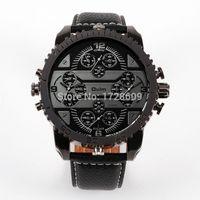 atm acrylic - Fashion Designer Brand OULM cm Large Big Face ATM Watches Men PU Leather Quartz Watch Relogios Masculinos Luxe de Marca