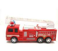Cheap Wholesale-FREE SHIPPING,Child's plastic Puzzle toy friction toy red fire truck toy . CJSL022