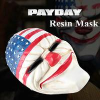 halloween supplies - New Halloween Day Resin Masks Payday Cosplay Top Grade Resin Clown Mask Clockwork Men Party Masks Holiday Supplies MS001