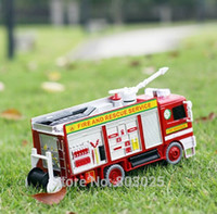 Cheap Free Shipping Fire Fighting Truck Automatic Bubble Machine, Children's Plastic Electronic Bubble Toy , Summer Outdoor Toy