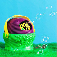 Cheap Free Shipping Portable Basket Design Electronic Automatic Bubble Machine,Children's Plastic Electronic Bubble Gun Toy, Party Toy