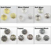 Wholesale Flower Filigree Bead Cap End mm Gold Silver DullSilver Bronze Copper etc